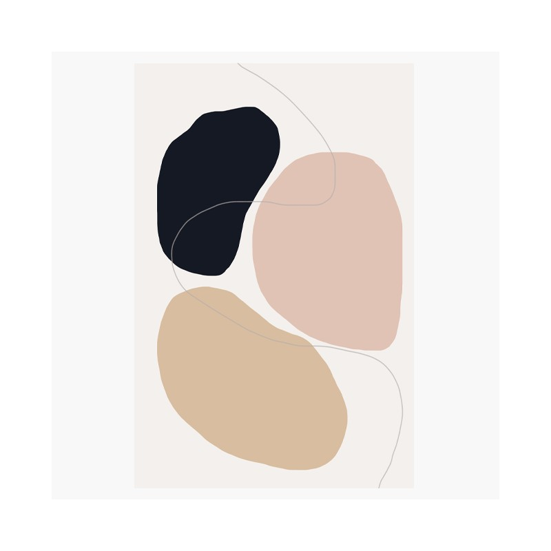 Noir, rose et beige